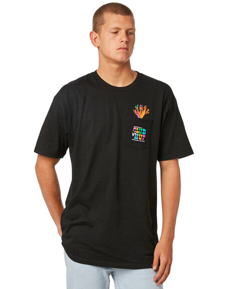 BLACK OUTLET MENS HUF TEES - TS00257BLACK