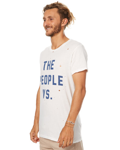 BLUE WHITE MENS CLOTHING THE PEOPLE VS TEES - W17004-BLU