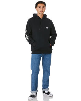 BLACK MENS CLOTHING BRIXTON JUMPERS - 02688BLACK
