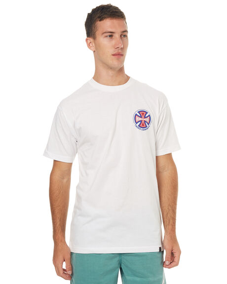 WHITE MENS CLOTHING INDEPENDENT TEES - IN-MTD7152WHT