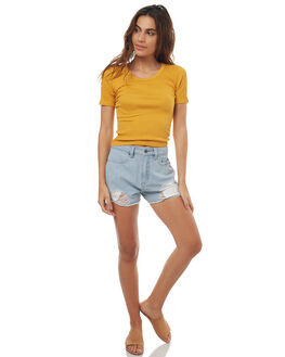 MUSTARD WOMENS CLOTHING SWELL TEES - S8171001MSTRD