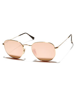 GOLD PINK UNISEX ADULTS RAY-BAN SUNGLASSES - 0RB3548N001Z2