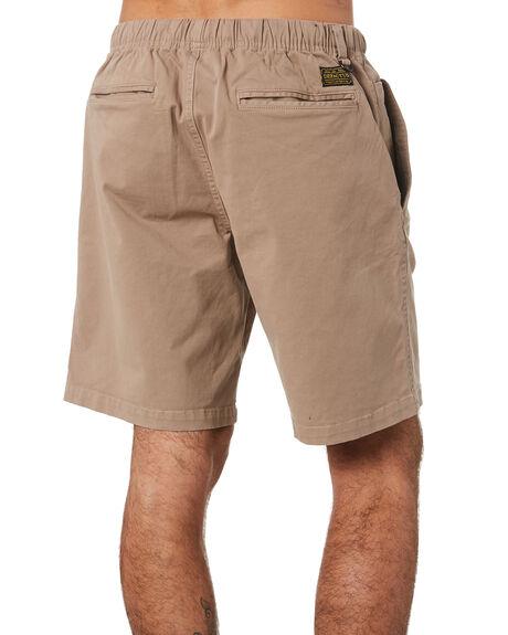 KHAKI MENS CLOTHING DEPACTUS SHORTS - D5201232KHAKI