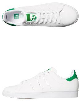 WHITE GREEN MENS FOOTWEAR ADIDAS ORIGINALS SKATE SHOES - SSB49618WHIM