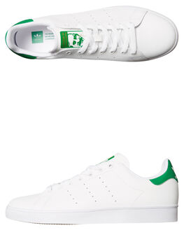 WHITE GREEN WOMENS FOOTWEAR ADIDAS SNEAKERS - SSB49618WHIW