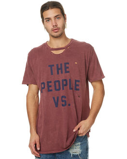BURGUNDY MENS CLOTHING THE PEOPLE VS TEES - SS17021BURG