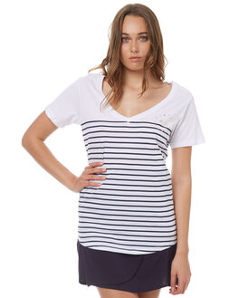 NAVY STRIPE WOMENS CLOTHING ELWOOD TEES - W73108NAVY