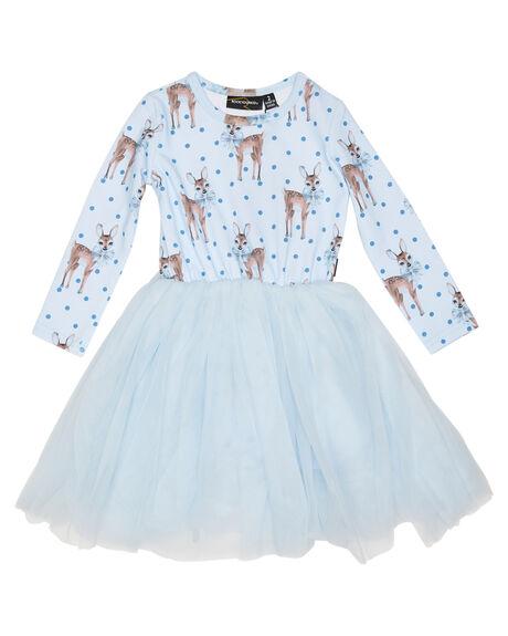 BLUE KIDS GIRLS ROCK YOUR KID DRESSES + PLAYSUITS - TGD20250-DHBLU