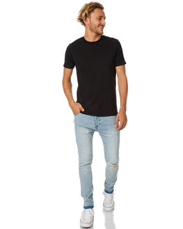 FOGGY BLUE RIP MENS CLOTHING ZANEROBE JEANS - 720-RISEFOGBL