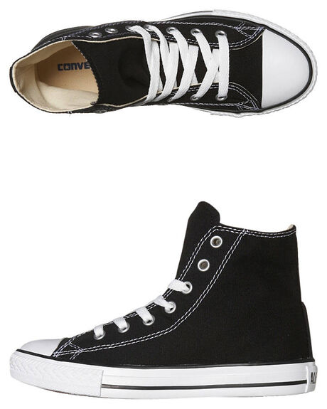 BLACK KIDS BOYS CONVERSE SNEAKERS - 3J231BLK