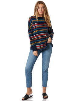 MULTI STRIPE WOMENS CLOTHING ALL ABOUT EVE KNITS + CARDIGANS - 6434014STR