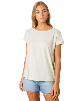BIRCH WHITE WOMENS CLOTHING PATAGONIA TEES - 52875LPBW