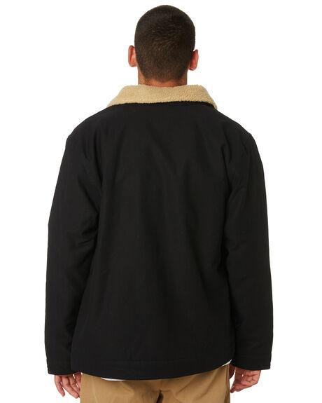 BLACK MENS CLOTHING CARHARTT JACKETS - I023604BLK