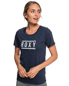 DRESS BLUES WOMENS CLOTHING ROXY TEES - ERJZT04540-BTK0