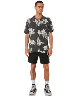WASHED BLACK MENS CLOTHING TOWN AND COUNTRY BOARDSHORTS - TBO413AWSBLK