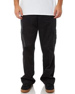 RINSED BLACK MENS CLOTHING DICKIES PANTS - 23-214RBK