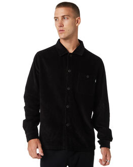 BLACK MENS CLOTHING STUSSY SHIRTS - ST095401BLACK