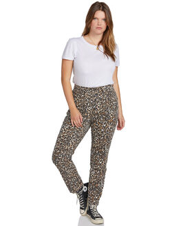ANIMAL PRINT WOMENS CLOTHING VOLCOM JEANS - B1931801PANM