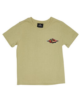 WASHED OLIVE KIDS BOYS RIP CURL TOPS - OTEVH29591