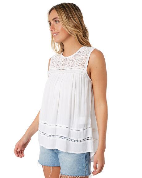 WHITE WOMENS CLOTHING RIP CURL FASHION TOPS - GSHGG11000