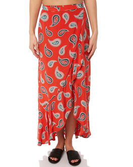RED OUTLET WOMENS TIGERLILY SKIRTS - T381280RED
