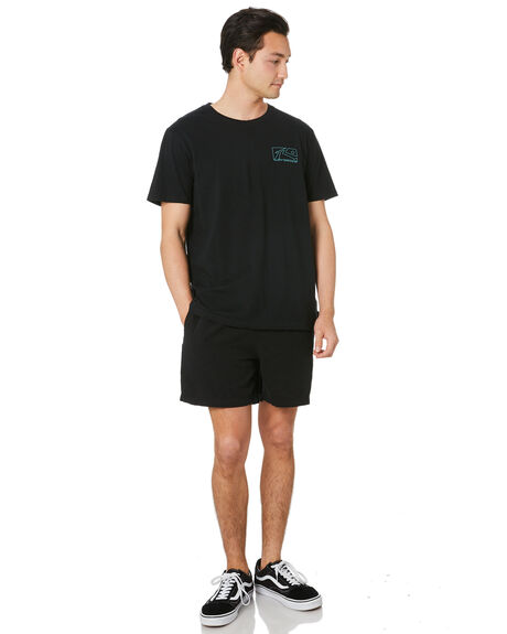 BLACK MENS CLOTHING RUSTY TEES - TTM2494BLK
