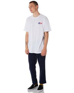 WHITE MENS CLOTHING STUSSY TEES - ST086019WHT
