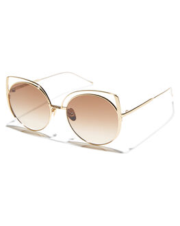 GOLD WOMENS ACCESSORIES SUNDAY SOMEWHERE SUNGLASSES - SUN173GOL