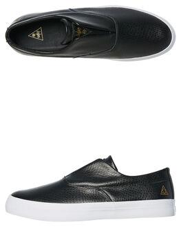 BLACK MENS FOOTWEAR HUF SLIP ONS - VC00026BLK