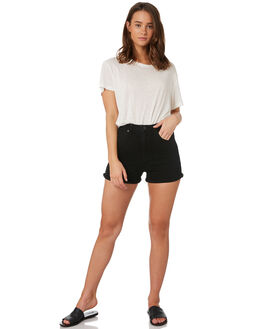 OVERDYED BLACK WOMENS CLOTHING ABRAND SHORTS - 70058-062