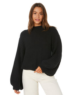 CHARCOAL WOMENS CLOTHING TIGERLILY KNITS + CARDIGANS - T305141CHA