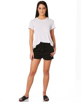 BLACK WOMENS CLOTHING RUSTY SHORTS - WKL0647BLK