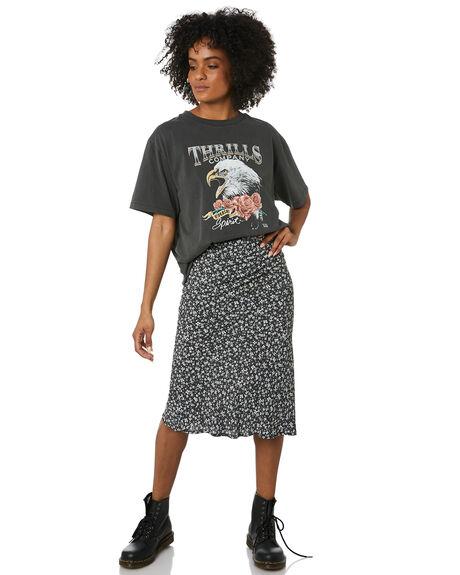 BLACK WOMENS CLOTHING THRILLS SKIRTS - WTR20-350BBLK