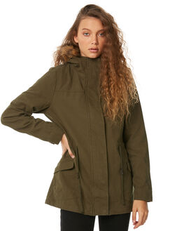 OLIVE WOMENS CLOTHING SWELL JACKETS - S8183381OLIVE
