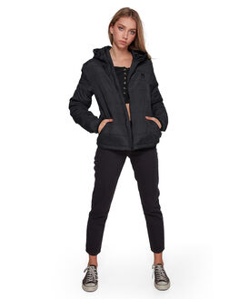 BLACK WOMENS CLOTHING BILLABONG JACKETS - BB-6507890-BLK