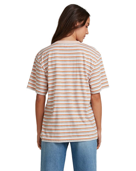SUN CHILD STRIPE BEA WOMENS CLOTHING ROXY TEES - URJZT03602-GCZ8