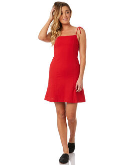 RED WOMENS CLOTHING ROLLAS DRESSES - 12816-160