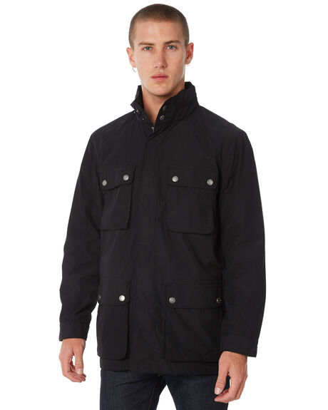 BLACK MENS CLOTHING ACADEMY BRAND JACKETS - 18W212BLK