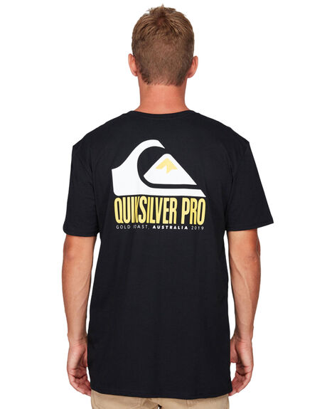 BLACK MENS CLOTHING QUIKSILVER TEES - EQYZT05543-KVJ0