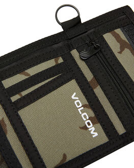 ARMY GREEN COMBY MENS ACCESSORIES VOLCOM WALLETS - D6041900ARC
