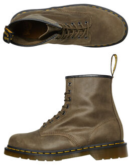 OLIVE WOMENS FOOTWEAR DR. MARTENS BOOTS - SS24540305OLIW