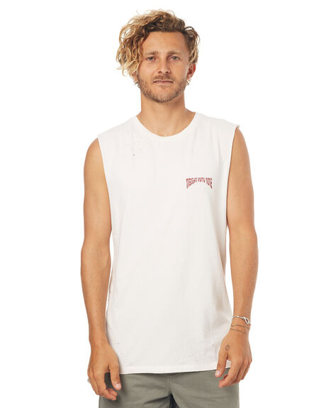 WHITE MENS CLOTHING INSIGHT SINGLETS - 5000000307WHT