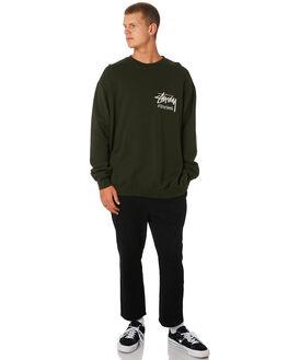 DARKEST GREEN MENS CLOTHING STUSSY JUMPERS - ST091201DKGRN