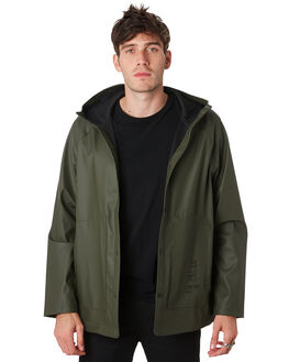 BASQUIAT DARK OLIVE MENS CLOTHING HERSCHEL SUPPLY CO JACKETS - 50001-00450BSQOL