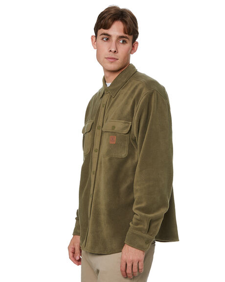 MILITARY OLIVE MENS CLOTHING BRIXTON SHIRTS - 01221MILOL