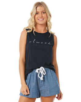 MIDNIGHT NAVY WOMENS CLOTHING ELWOOD SINGLETS - W83004-MNVY