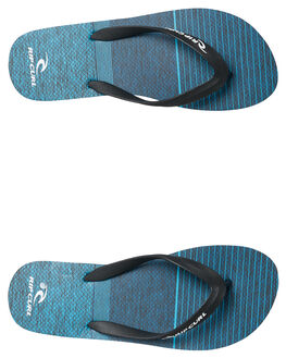 BLACK BLUE MENS FOOTWEAR RIP CURL THONGS - TCTA420107