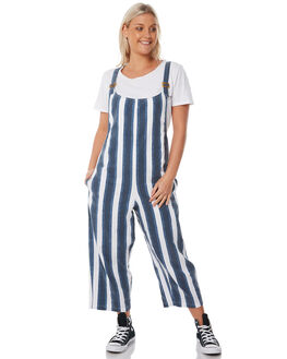 NAVY WHITE STRIPE WOMENS CLOTHING THE HIDDEN WAY PLAYSUITS + OVERALLS - H8183443NWHST