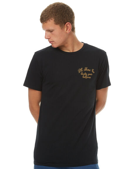BLACK MENS CLOTHING DC SHOES TEES - UDYZT03415KVJ0