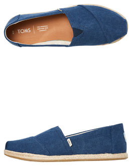 NAVY CANVAS WOMENS FOOTWEAR TOMS SLIP ONS - 10009758NCNVS